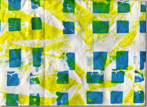 ruths blue and yellow screenprint